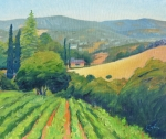 Tuscan Hills Paintings - La Rusticana Morning by Gary Coleman