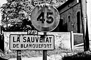 French Village Posters - La Sauvetat Poster by Georgia Fowler
