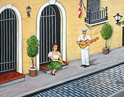 San Juan Paintings - La Serenata by Juan Gonzalez