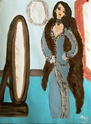 Gown Paintings - La Shai Mirror Mirror Mirror on the wall. by Marie Bulger