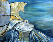Licensed Paintings - La Sirene by Marie Christine Belkadi