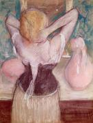 Rear Prints - La Toilette Print by Edgar Degas