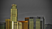 Los Angeles Skyline Metal Prints - LA Tops Metal Print by Chris Brannen