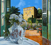 With Metal Prints - La tour carree in Ste Maxime Metal Print by Guido Borelli
