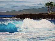 Wave Pastels - La Vague de Genevieve by Marie-Claire Dole