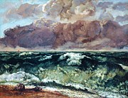 Courbet Posters - La Vague Poster by Pg Reproductions