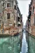 Canals Framed Prints - La Veste Venice Framed Print by Marion Galt