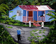 Puerto Rico Art - La Vida En Las Montanas De Moca by Luis F Rodriguez