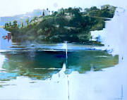 Azur Painting Prints - La Villefranche franche Print by Lin Petershagen