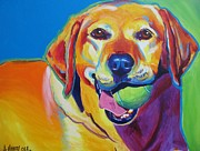 Dawgart Paintings - Lab - Bud by Alicia VanNoy Call