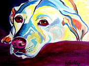 Dog Print Framed Prints - Lab - Luna Framed Print by Alicia VanNoy Call
