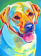 Yellow Dog Metal Prints - Lab - May Metal Print by Alicia VanNoy Call