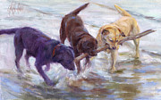 Chocolate Labrador Retreiver Prints - Lab Values Print by Cheryl King
