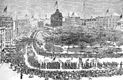 Union Square Prints - Labor Day Parade, 1882 Print by Granger