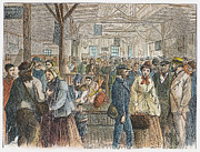 Interview Prints - Labor Exchange, 1868 Print by Granger