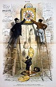 19th Century America Metal Prints - Labor Movement. Editorial Cartoon Metal Print by Everett