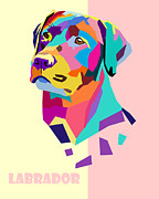 Labrador Digital Art - Labrador Portrait by Jim Bryson