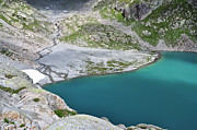 Mountain Scene Prints - Lac Blanc And Cheserys Lakes Print by Thomas Pollin