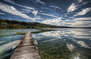 Cloudscape Posters - Lac Saint-point Poster by Philippe Saire - Photography