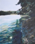 Edge Paintings - Lacamas Lake  by Taryn L