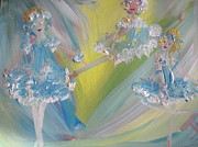 Ballet Dancers Paintings - Lace Ballet by Judith Desrosiers
