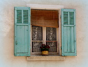 France Doors Framed Prints - Lace in the Window Framed Print by Lainie Wrightson