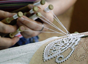 Bobbin Posters - Lace Production Using Bobbins Poster by Ria Novosti