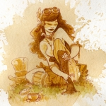 Women Painting Acrylic Prints - Laces Acrylic Print by Brian Kesinger
