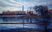 Quebec Paintings - Lachine Canal at Dusk by Jonathan E Raddatz