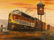 Train Crossing Prints - Lackawanna Fast Freight Print by Christopher Jenkins