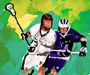 Sports Art Paintings - Lacrosse I by Scott Melby