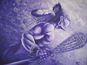 Game Painting Prints - Lacrosse  Print by Kerdy Mitcho