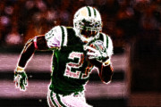 New York Jets Framed Prints - LaDainian Tomlinson - 01 Framed Print by Paul Ward