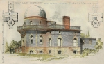 Telescope Paintings - Ladd Observatory Brown University Providence RI 1890 by Stone Carpenter Wilson