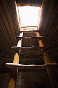 Mesa Verde Photos - Ladder of a Native American Cliff Dwelling by Bryan Mullennix