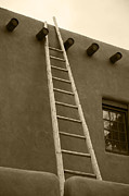 Taos Posters - Ladder Poster by Timothy Johnson