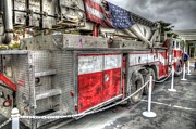Ladder Framed Prints - Ladder Truck 152 - 9-11 Memorial Framed Print by Eddie Yerkish