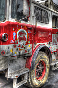 Ladder Prints - Ladder Truck 152 - In Remembrance of 9-11 Print by Eddie Yerkish