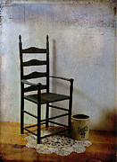 Ladderback Chair Photo Posters - Ladderback Poster by Judi Bagwell