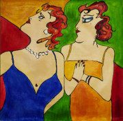 Film Painting Originals - Ladies at The Opera by Dave Sherwood-Adcock