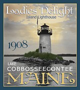 New England Lighthouse Digital Art - Ladies Delight by Sharon Marcella Marston
