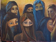 Middle East Painting Originals - Ladies from the seven Emirates by Brigitte Roshay