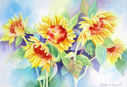 Deb Ronglien Watercolor Prints - Ladies In Waiting Print by Deborah Ronglien