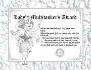Award Drawings Prints - Ladies Multitasker Print by Wesley Stout