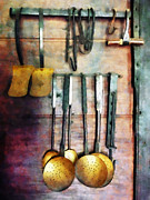 Ladles Framed Prints - Ladles and Spatulas Framed Print by Susan Savad