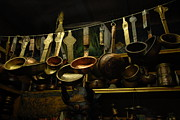 Antiques Metal Prints - Ladles of Tibet Metal Print by Donna Caplinger