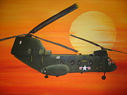 Helicopters Paintings - Lady Ace 09 by Jena Gillam