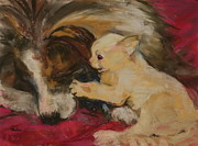 Burmese Pastels - Lady and the Kitten by Barbara Torke