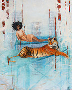 The Tiger Paintings - Lady and the Tiger by Courtney Barriger