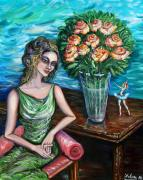 Bale Painting Metal Prints - Lady Ballerina Metal Print by Yelena Rubin